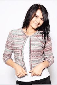 Bolero tricotat Etnic