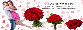 "Comanda online flori persoanei iubite indiferent de ocazie, Valentine""s Day, Dragobete sau de martisor"