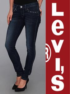 Jeansi femei Levis 524 Skinny cu capse