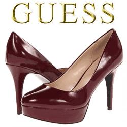 Pantofi cu toc GUESS Donally de culoare maro aprins