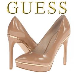 Pantofi cu toc bej GUESS Leena
