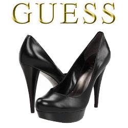 Pantofi negri cu toc GUESS Adriena
