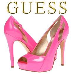 Pantofi cu toc GUESS Roz Pamelia