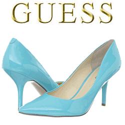 Pantofi cu toc GUESS Guenivier de culoare albastra