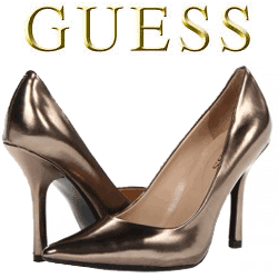 Pantofi cu toc GUESS bronz Cadeo