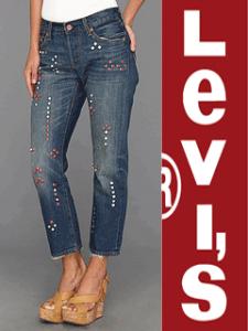 Levi's Embellished Shrunken 501® Jeans