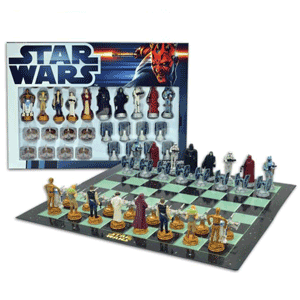 Sah tematic Star Wars. Joc de sah cu figurinele din Razboiul Stelelor