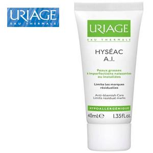 Crema Hyseac AI ten gras de la Uriage recomandata pentru repararea pielii dupa acnee