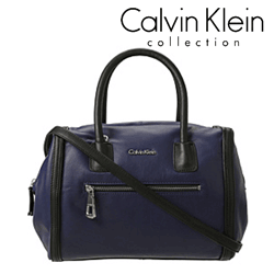 Geanta casual Calvin Klein Barrie de culoare albastru inchis