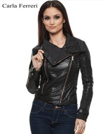 Jacheta asimetrica de dama pentru primavara toamna Carla Ferreri