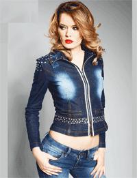 Jacheta Jeans Stone Wash de primavara