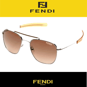 Ochelari de dama Fendi Aviator Orange
