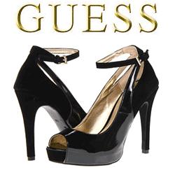 Pantofi cu toc GUESS Adinna negrii