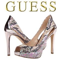 Pantofi cu toc GUESS Harrah cu varf taiat model fashion