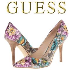 Pantofi cu toc GUESS Flowers
