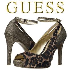 Pantofi GUESS cu toc Adinna animal print