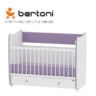 Patut bebe Bertoni reglabil si transformabil in pat adolescent si birou
