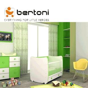Patut bebe transformabil in pat si birou Bertoni