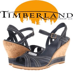 Sandale dama Timberland pluta si piele albastre