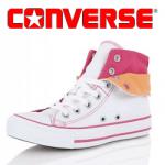 Bascheti Converse alb carmin All Star