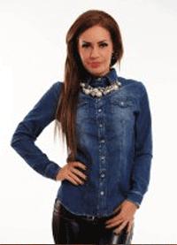 Camasa Jeans accesorizata