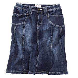 Fustă din jeans cu cusături decorative