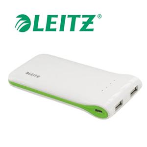 Incarcator portabil cu USB, alb, LEITZ Complete