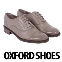 Pantofi dama Oxford cu siret, din piele naturala