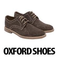 Pantofi Oxfords dama din piele naturala, Brown Flowers