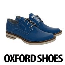 Pantofi dama Oxford Blue Lacquer