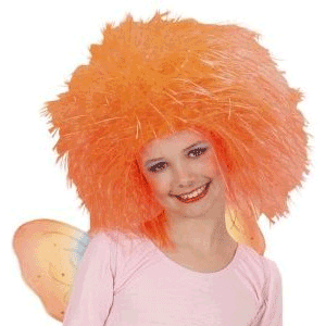 Peruca portocalie pentru copii