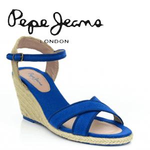 Platforme de vara Pepe Jeans Sark albastre