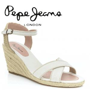 Platforme de vara Pepe Jeans albe