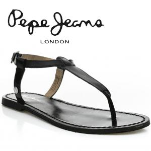 Sandale de dama Pepe Jeans Basic din piele neagra