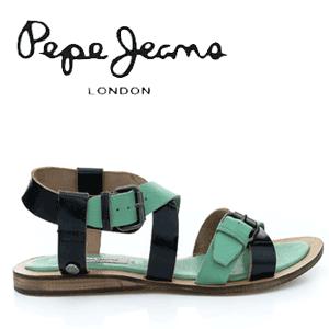 Sandale din piele Pepe Jeans pentru femei Gayton