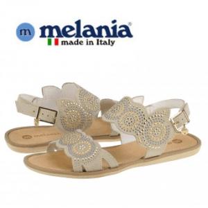 Sandale Elegante decorate Melania Beige din piele intoarsa