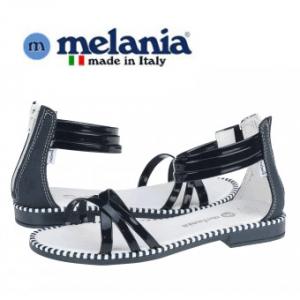 Sandale fete Melania Blu din piele culoare bleumarin