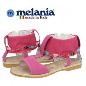 Sandale Melania din piele de culoare Fucsia