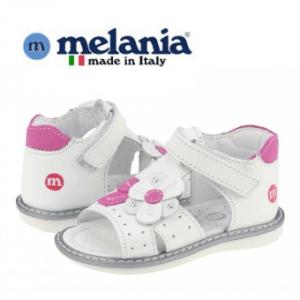 Sandalute casual pentru fetite Melania Bianco