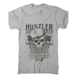 Tricouri Rock Hustler Skull gri