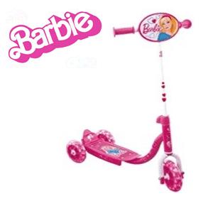 Trotineta Barbie cu 3 roti pentru fetite 3-6 ani