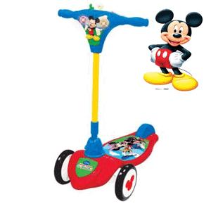 Trotineta muzicala Mickey Mouse copii 1-3 ani