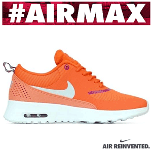 Adidasi Nike Air Max Thea portocalii, de dama