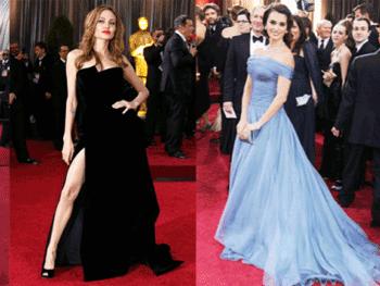 Angelina Jolie & Penelope Cruz & Vera Wang Dresses