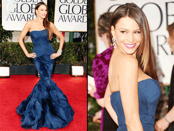 Sofia Vergara pune in valoare o superba rochie Vera Wang