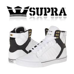 Skate Shoes Supra Skytop Alb cu Negru
