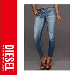Jeans dama Diesel Grupee Zip Skinny 602C - Blugi originali pentru femei