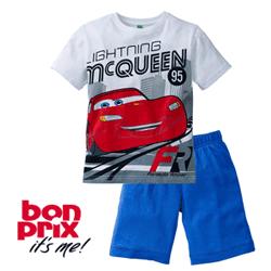 Pijama Disney Cars din bumbac pentru baieti