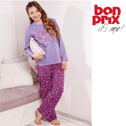 Pijama cu fundiță de satin pentru fetite