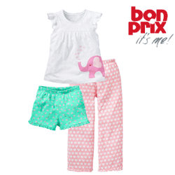 Pijama fetite din bumbac pur